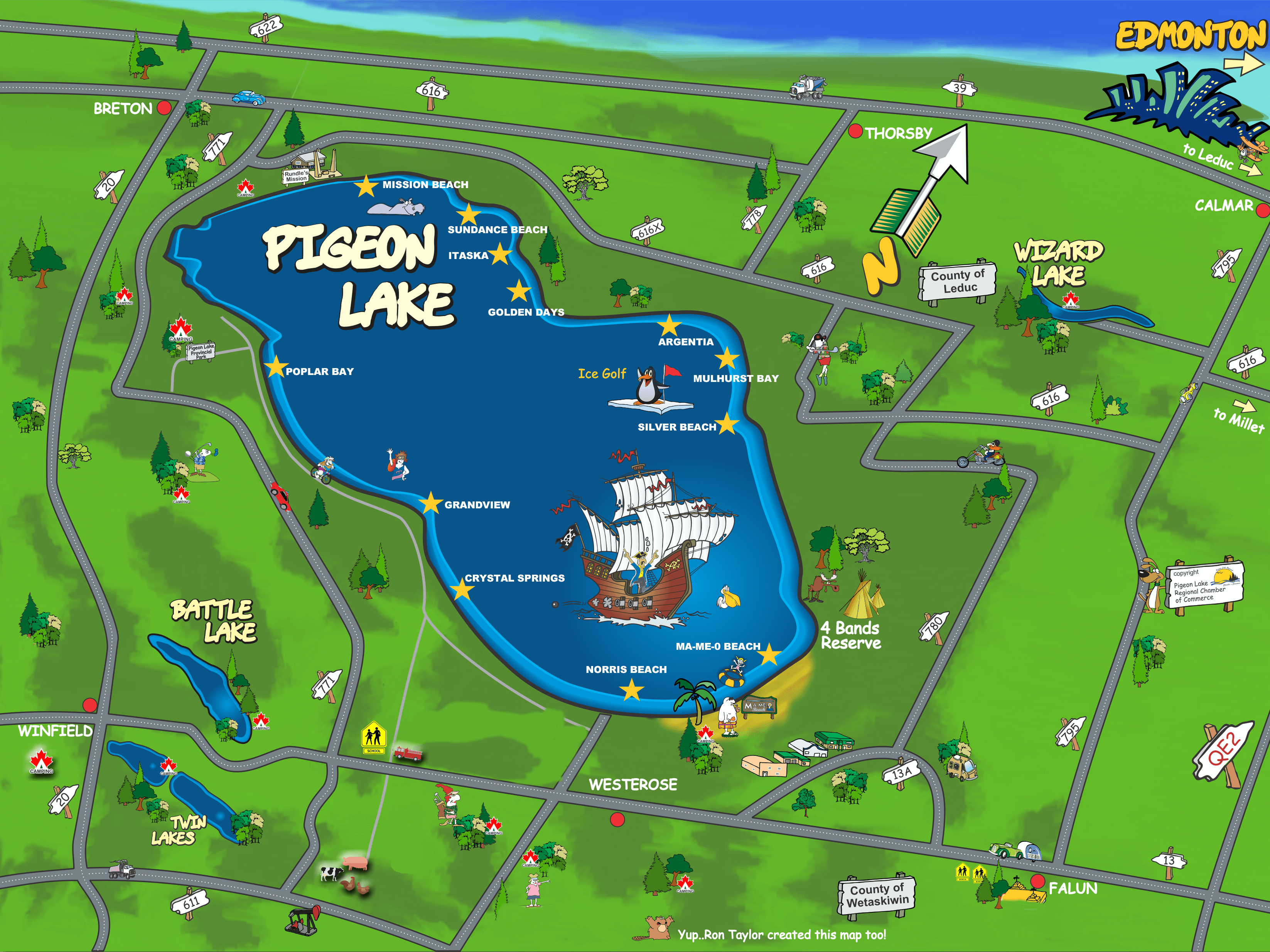 Pigeon Lake Fun Map